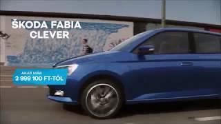 ŠKODA FABIA CLEVER már 2 999 100 Ft-tól!