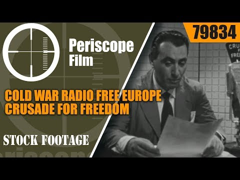 COLD WAR  RADIO FREE EUROPE  CRUSADE FOR FREEDOM  PROPAGANDA FILM with WALTER CRONKITE 79834