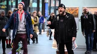 Arctic30 Solidarity Flashmob in Malmö central station with Rickard Söderberg