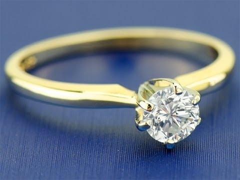 Купить эксклюзивное золотое кольцо с бриллиантом в москве с. А золотые кольца с одним диамантом в 0 25 карат все чаще покупают для помолвки.