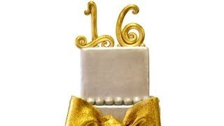 Gold And Silver Sweet 16 Cake
