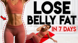LOSE FAT in 7 days (belly, waist & abs) | 5 minute Home Workout