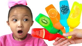 The Color Song / Learn color by making ice cream | Kids song & Nursery rhymes 과일 아이스크림 만들기 놀이
