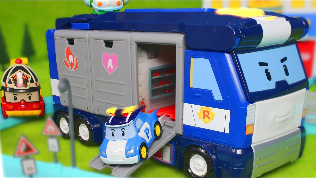robocar poli unboxing deutsch polizeiauto feuerwehrmann. Black Bedroom Furniture Sets. Home Design Ideas