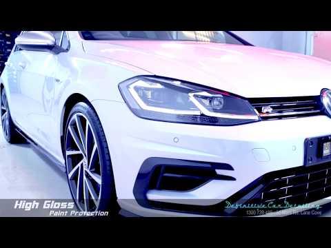 VW Golf R Pure White Definitive Sydney Liquid Glass Ceramic Coating High Gloss Paint Protection Trea