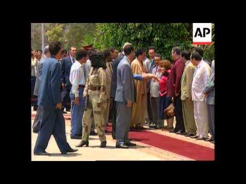 EGYPT: CAIRO: LIBYAN LEADER MOAMMAR GADHAFI VISIT