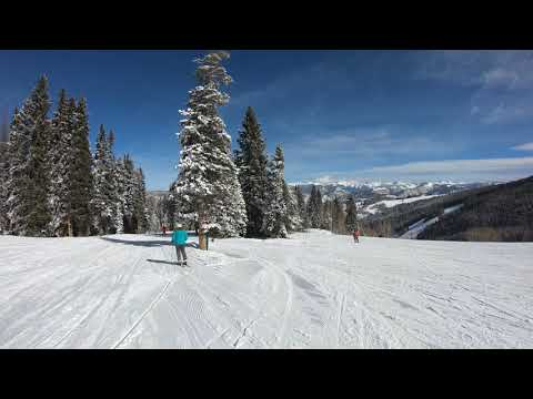 Beaver Creek Summit To Base VIA. Red Buffalo, Cinch, Gold Dust 4K