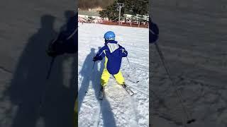 초보 스키 두번째 강습