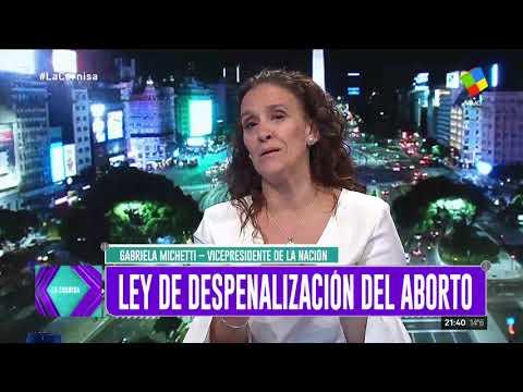 Michetti ratificó en La cornisa su postura en contra del aborto