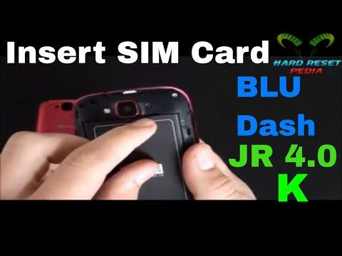 Insert The SIM Card BLU Dash JR 4.0 K