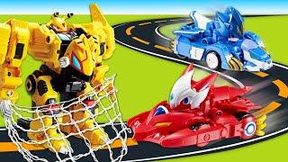 Игры гонки машинок – Монкарты: прокачка и битвы Трансформеров! – Сборник видео для мальчиков.