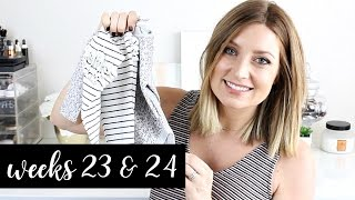 Twin Pregnancy Vlog Weeks 23 + 24: Body Aches, Cravings, Baby Buys | Kendra Atkins
