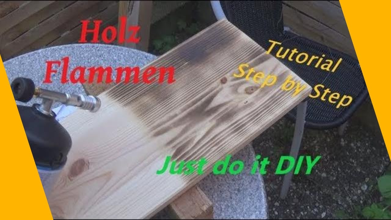 diy holz flammen fl mmen anleitung antik vintage look so geht 39 s youtube. Black Bedroom Furniture Sets. Home Design Ideas