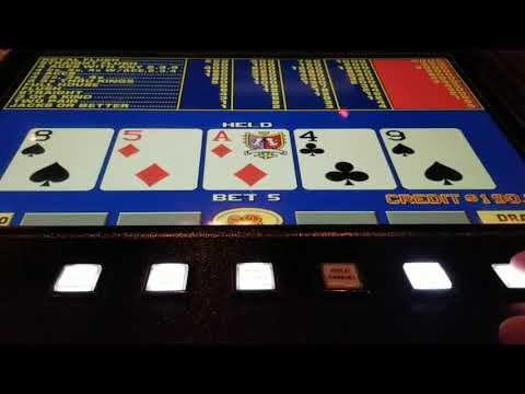 LIVE Video Poker HIGH LIMIT at Vegas Casino Bar