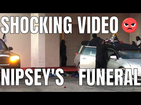 Nipsey Hussle's Casket arrives to Funeral Home