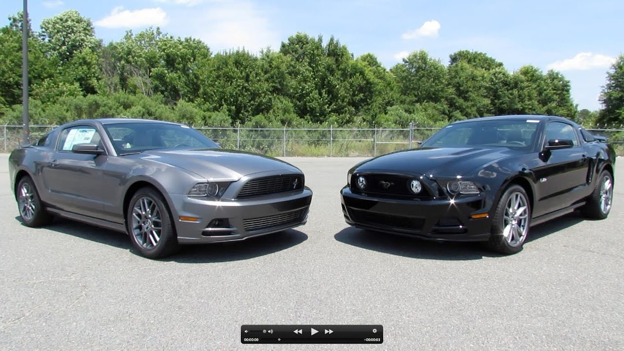 2013 ford mustang gt 5 0 and v6 start up exhaust and in depth review