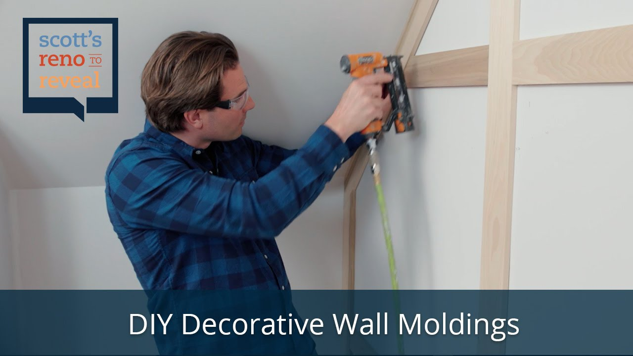 How To Diy Decorative Wall Moldings Youtube