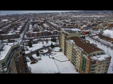 Winter in Montreal, QC - Verdun Waterfront - DJI Phantom 3 Pro Drone Footage