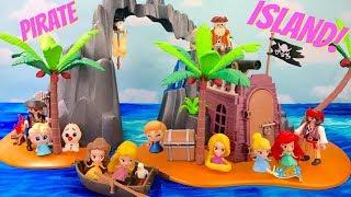 Disney Princesses Sail to Playmobile Pirate Treasure Island