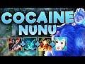 CLAP THE ENEMY TEAM WITH COCAINE NUNU! NEW FUN BUILD NUNU TOP SEASON 7 - League of Legends