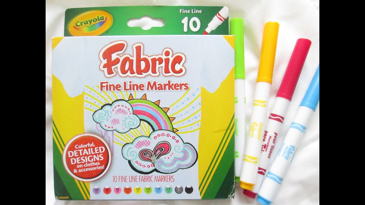 How to use Crayola Fabric Markers - Tsibiah\'s Activities for Kids ...