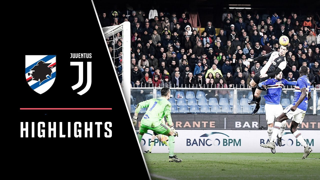 Cristiano Ronaldos Insane 256m Header Sampdoria 1 2 Juventus Highlights