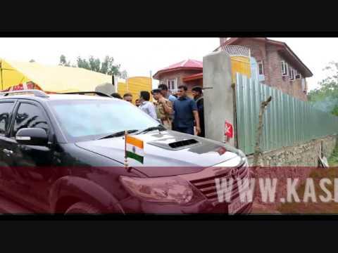 Mehbooba Mufti visits slain SHO's residence in Sangam