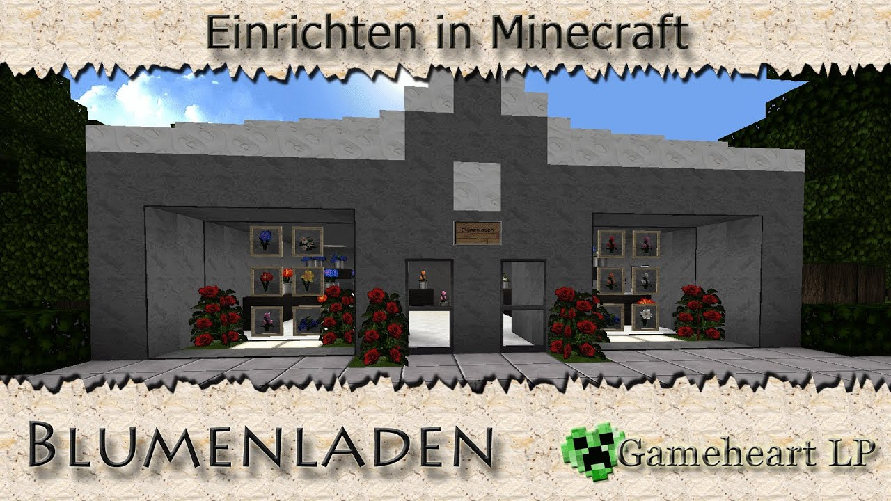 Minecraft kleiner blumenladen einrichten in minecraft for Minecraft modern einrichten