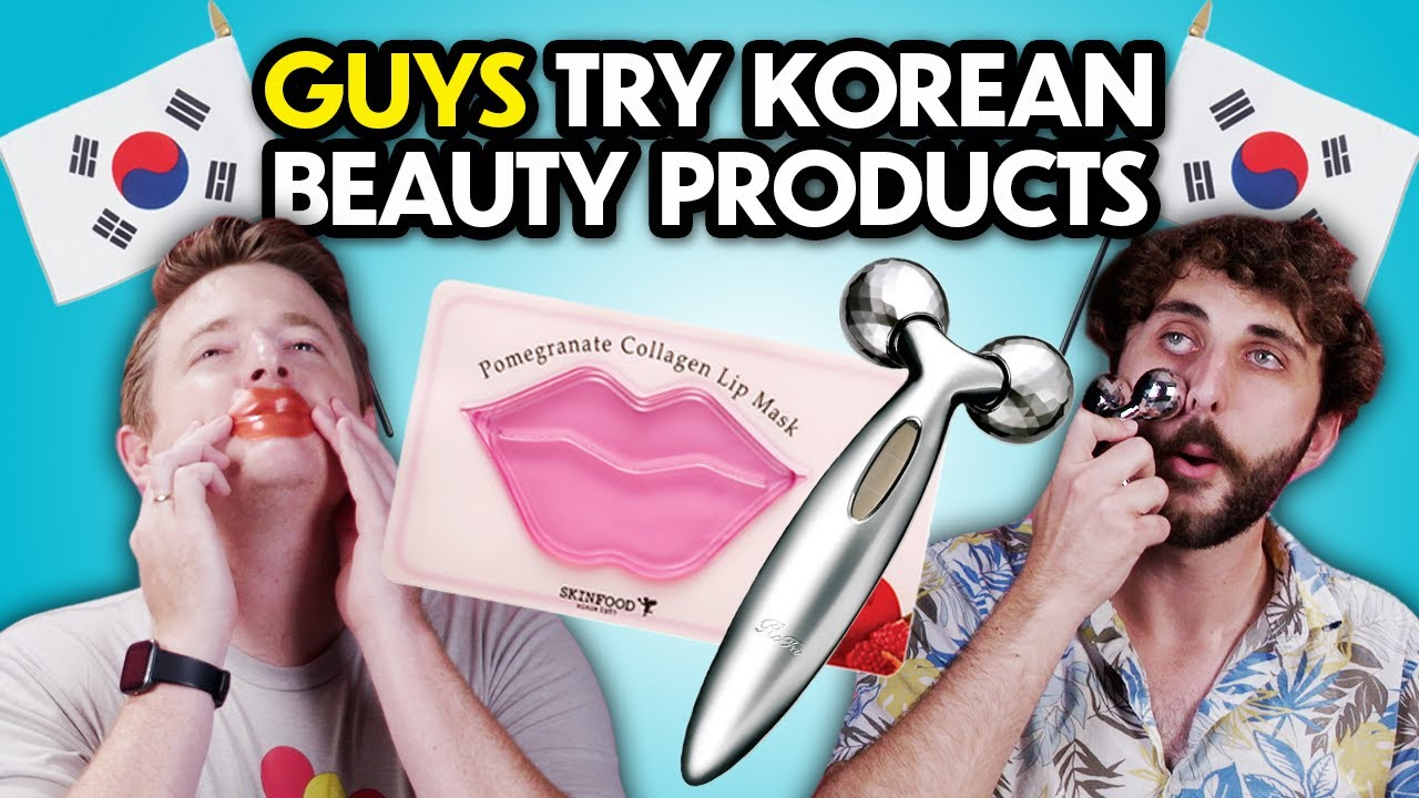 Guys Try Korean Beauty Products For The First Time   React