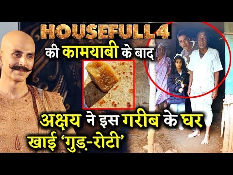 After Housefull 4 Akshay Kumar Spends A time With Daughter At Elderly Couple's Hut