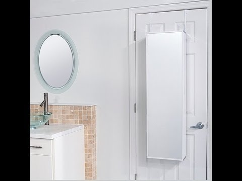 OvertheDoor Beauty Armoire With FullLength Mirror