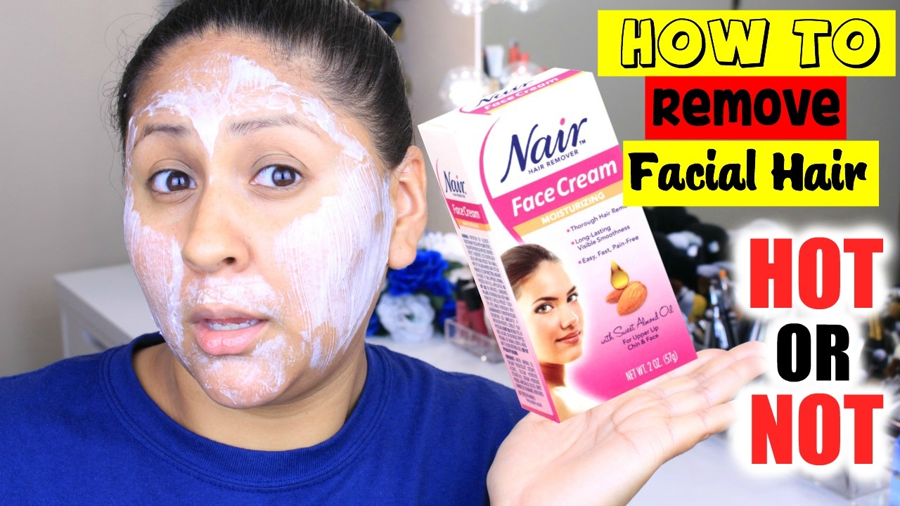 How To Remove Facial Hair Using Nair Face Cream Painless Easy