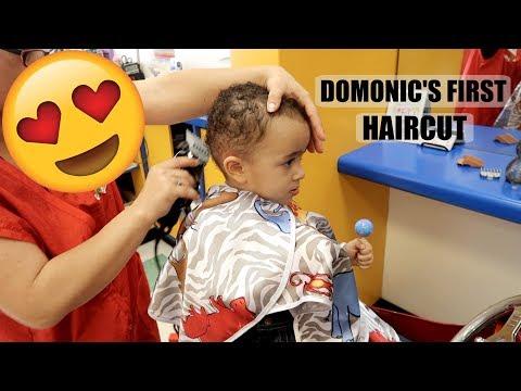DOMONIC&39;S FIRST HAIRCUT *BIG BOY STATUS*