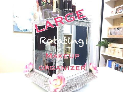 LARGE GLAM Makeup Organizer|Dollar Tree!!