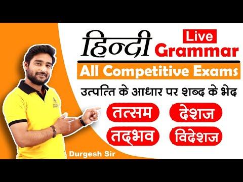 उत्पत्ति के आधार पर शब्द के भेद | Utpati ke aadhar par shabd ke bhed | Hindi Grammar