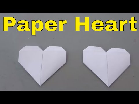 How To Make A Paper Heart-Folding Origami Heart Tutorial