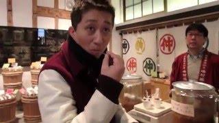 峰村醸造(新潟市中央区)で味噌を試食