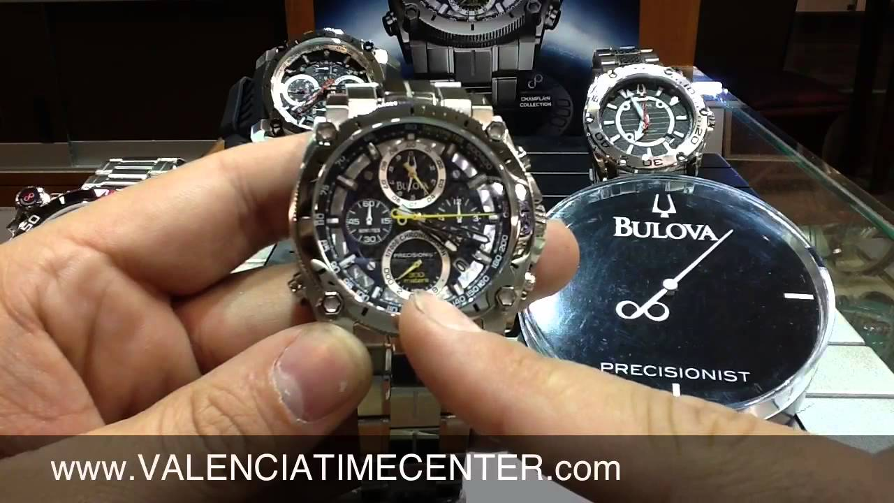 36be617ed83 Bulova Precisionist Chronograph watch review by Valencia Time Center -  YouTube