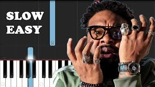 Blanco Brown - The Git Up (SLOW EASY PIANO TUTORIAL)