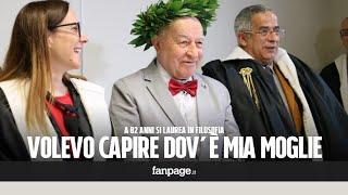 Italo, 82 anni, si laurea in filosofia dopo la morte della moglie: