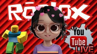 LIVE DE ROBLOX-PLAYING WITH SUBSCRIBERS!!! 💕💓 😘😍