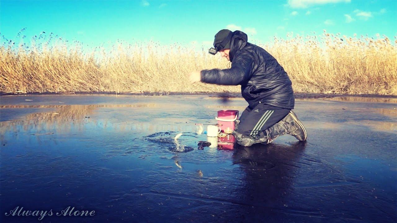 Рыбалка по первому льду. Ловля белой рыбы (плотва, красноперка, густера). Ловля живца. Первый лед.