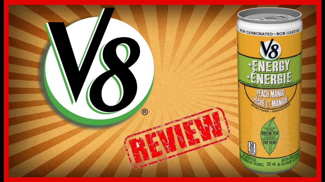 V8 Energy Review >> V8 Energy Peach Mango Review August 31st 2016 Youtube