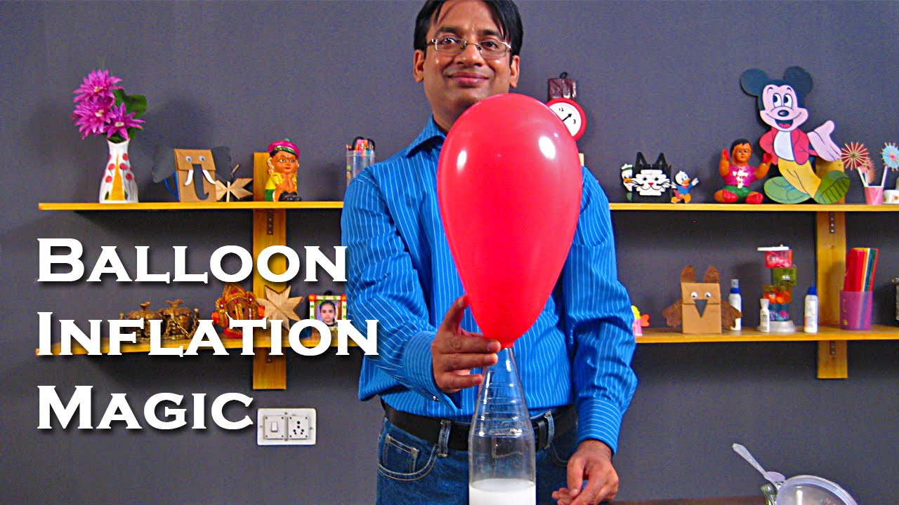 balloon inflation magic chemistry projects for kids