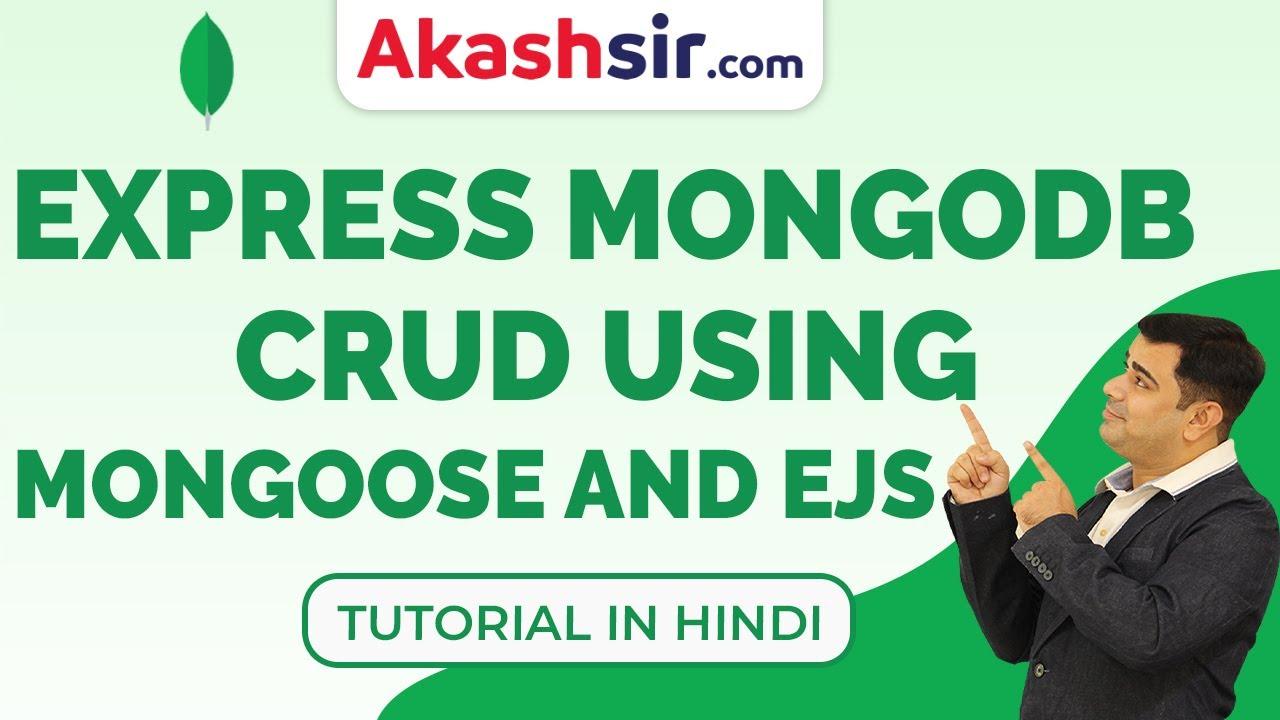 Express MongoDB CRUD Using Mongoose and EJS   Node js