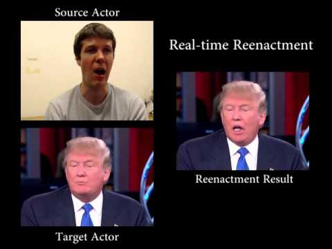 Face2Face: Real-time Face Capture and Reenactment of RGB Vid