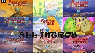Adventure Time ALL INTROS Includes anime and Lego