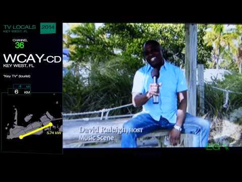 Local TV Bandscan for Key West, FL (2014)