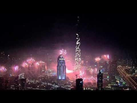 Новогодний фейерверк в Дубае 2015 года
