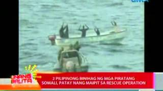 UB: 2 Pilipinong binihag ng mga   piratang Somali, patay nang   maipit sa rescue operation